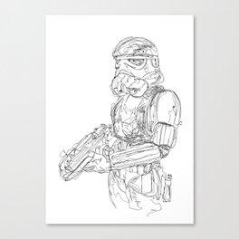 storm trooper Canvas Print