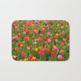 Coloful tulips painted Bath Mat