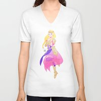 hyrule V-neck T-shirts featuring Hyrule Warriors Zelda by causticAntilogy