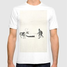 Winter Spirit #prints MEDIUM Mens Fitted Tee White
