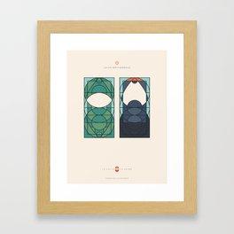LE VOILE & LA BARBE - Juifs orthodoxes - Femme & Homme Framed Art Print