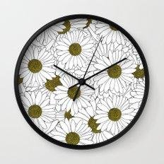 Daisy Yellow Wall Clock