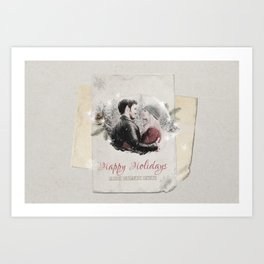OUAT HAPPY HOLIDAYS // Captain Swan Art Print
