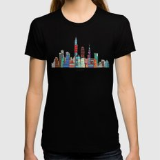 Cleveland city  Womens Fitted Tee MEDIUM Black
