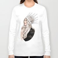 silver Long Sleeve T-shirts featuring Silver Blonde by Helen Green