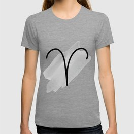 ARIES March 21 - April 20, The Ram, Symbols Horoscope And Astrology Line Signs, Zodiac Sign T-shirt