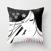 asian Throw Pillows featuring Asian Obsession by DesignDinamique