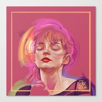 chvrches Canvas Prints featuring QUIET by Cloakwork