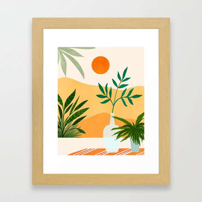 California Sunset Views Framed Art Print by Moderntropical - Conservation Natural - X-Small-10x12