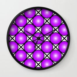 Neon Purple Pattern Wall Clock