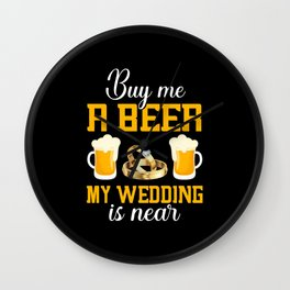 Bachelor Party, Men's Group, Wedding Contest Wall Clock