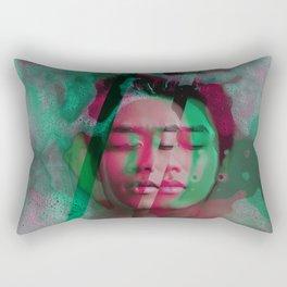 3d portrait in the bath Rectangular Pillow