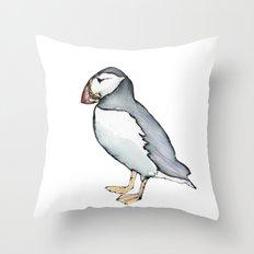 puffin 3 Throw Pillow