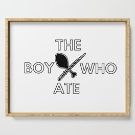 The Boy Who Ate - Wand and Chicken Crest Serving Tray