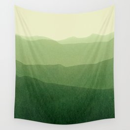 gradient landscape green Wall Tapestry