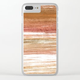 Coconut abstract watercolor Clear iPhone Case