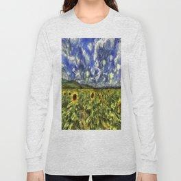 Summer Sunflowers Van Gogh Long Sleeve T-shirt