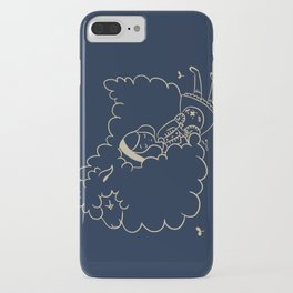 Girl and sheep. iPhone Case
