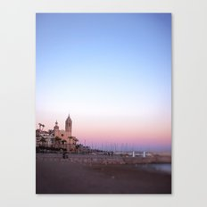 Goodnight from Sitges Canvas Print