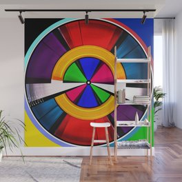 Test Pattern Clock Wall Mural