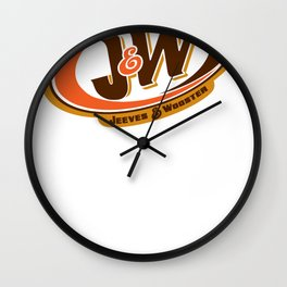Jeeves and Wooster's Fine Beverages Wall Clock