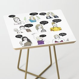 Real Housewives Drinking Side Table