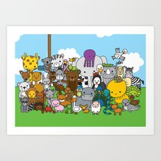 Zoe animals Art Print