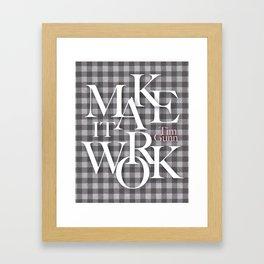 Make It Work Gray Checks Framed Art Print