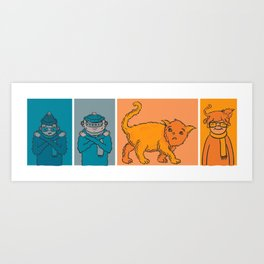 Cat weather Art Print