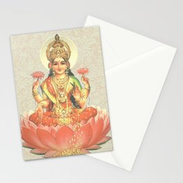Lakshmi, Goddess of Love (Coral) Stationery Cards