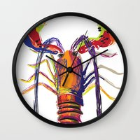 lobster Wall Clocks featuring lobster by Urquhart