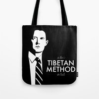dale cooper Tote Bags featuring Cooper by Lindsay Happ