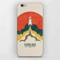 universe iPhone & iPod Skins featuring Come See The Universe by Picomodi