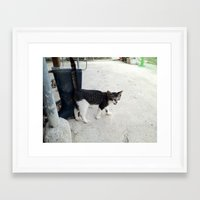 mew Framed Art Prints featuring mew by Seo Jeongmin