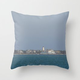 Ocracoke Island from the ferry Throw Pillow