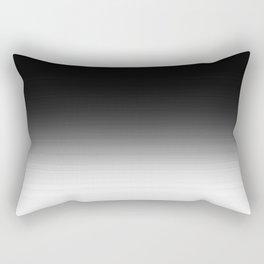 Black & White Ombre Gradient Rectangular Pillow
