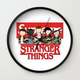Stranger Thing And Friends Supreme Wall Clock