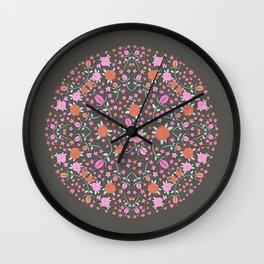 Orange Floral! Wall Clock
