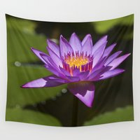 lotus flower Wall Tapestries featuring Lotus by Maria Heyens