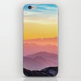 sky blue yellow orange purple iPhone Skin