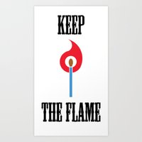 Keep the Flame Art Print