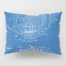 French Horn Patent - Horn Player Art - Blueprint Pillow Sham