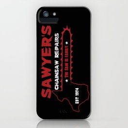 Sawyer's Chainsaw Repair iPhone Case