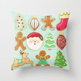 Baking Christmas Bright Throw Pillow