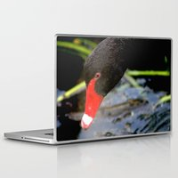 black swan Laptop & iPad Skins featuring Black Swan by Chris' Landscape Images & Designs