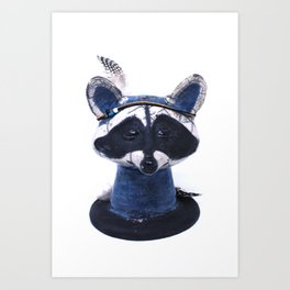 animal totem raccoon Art Print