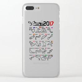 Calendar F1 2017 circuits white Clear iPhone Case
