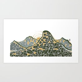 Geometric Mountain Art Print