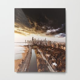 chicago aerial view Metal Print