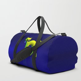 The Yellow Cat And Glass Blue Cherry Duffle Bag